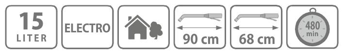 Caracteristici pompa tip rucsac electrica 15 litri