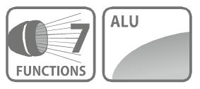 Caracteristici furtun 7 functii aluminiu