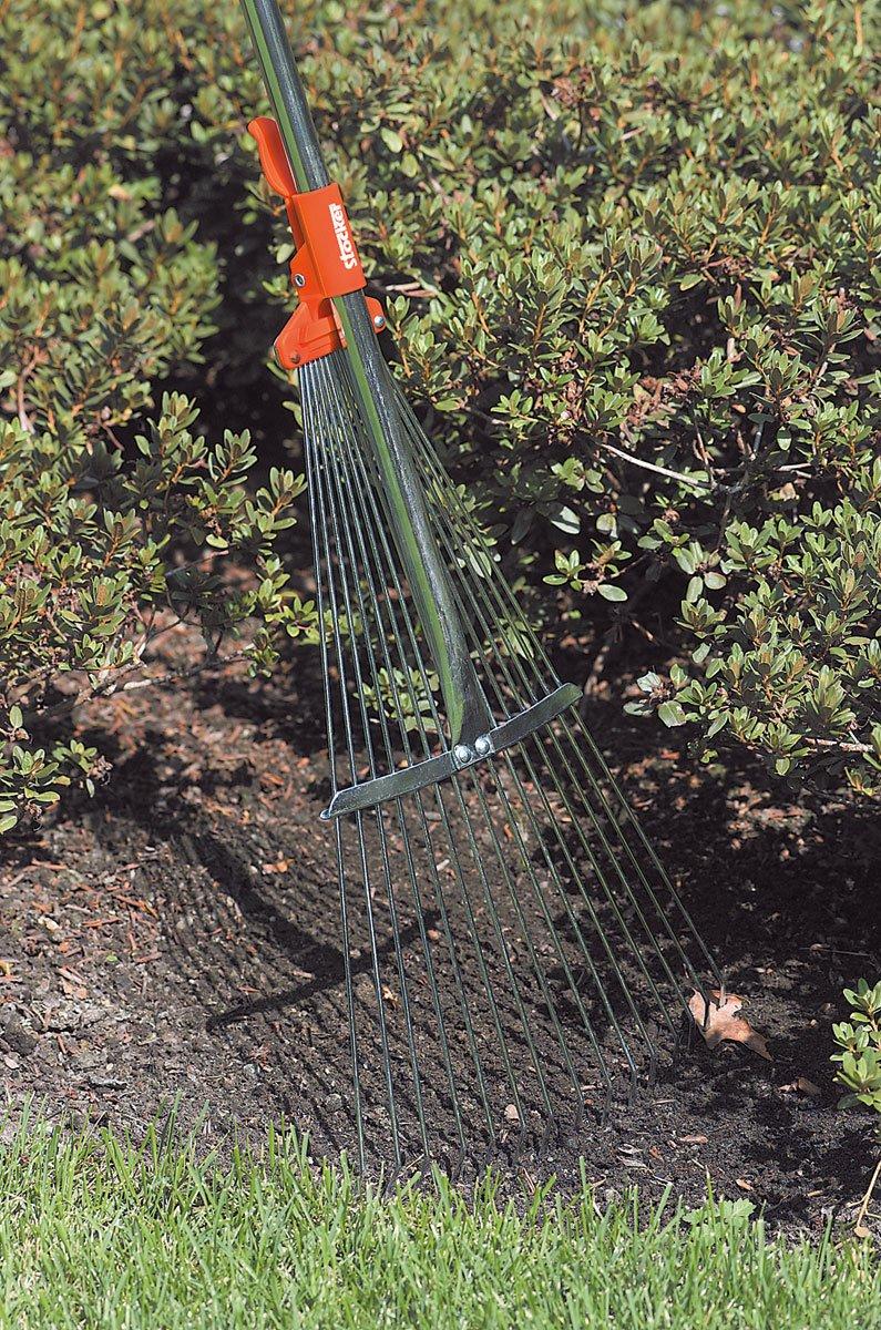 Grebla pentru frunze, reglabila, cu coada 128 cm