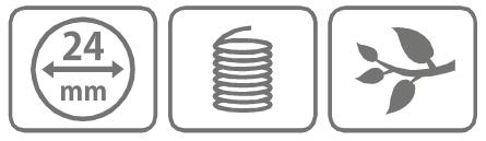 Caracteristici cutit inel din aluminiu 24 mm