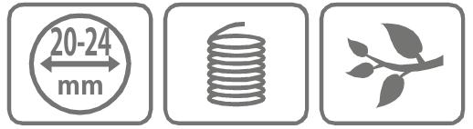 Caracteristici cutit inel din plastic cu deschidere variabila de 20-24 mm