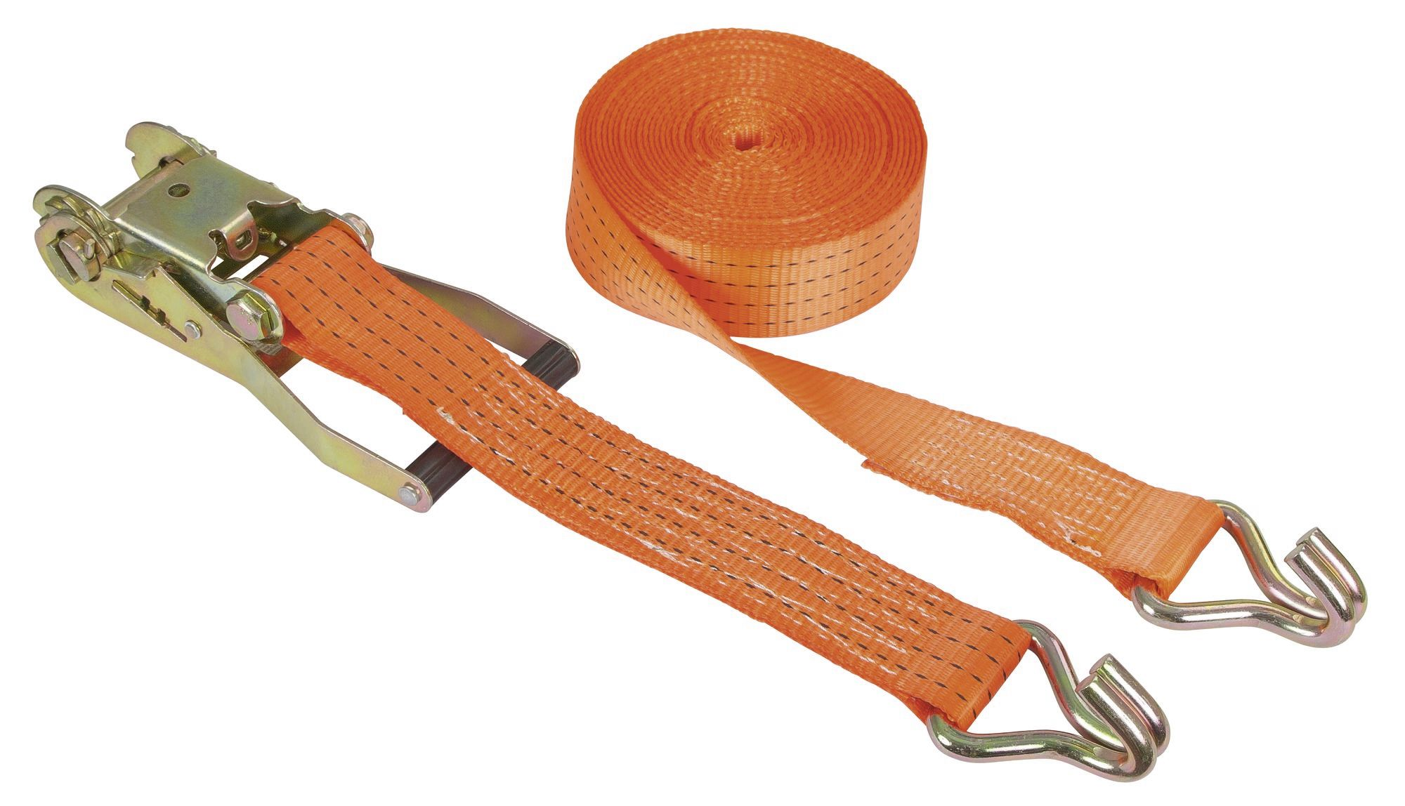Chinga fixare Kerbl cu clichet 6 m × 50 mm - portocaliu